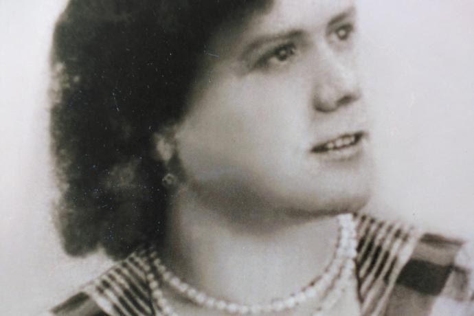 Retrato de Calixta Castrillo, hermana del informante, de quien este aprendió la oración